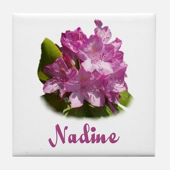 Nadine: Purple Flower Tile Coaster