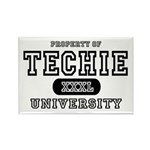 Techie University Rectangle Magnet
