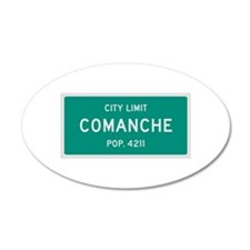 Comanche, Texas City Limits Wall Decal