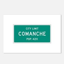 Comanche, Texas City Limits Postcards (Package of