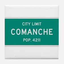Comanche, Texas City Limits Tile Coaster