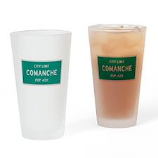 Comanche, Texas City Limits Drinking Glass