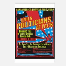 When Politicians Attack Postcards (Package of 8)