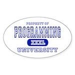 Programming University Oval Sticker