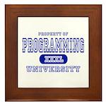 Programming University Framed Tile