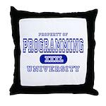 Programming University Throw Pillow