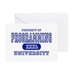 Programming University Greeting Cards (Package of