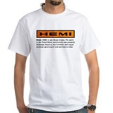 Muscle cars Mens White T-shirts
