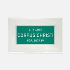 Corpus Christi, Texas City Limits Rectangle Magnet