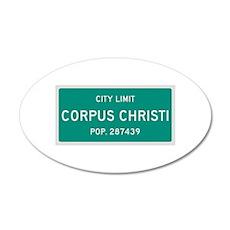 Corpus Christi, Texas City Limits Wall Decal