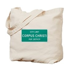 Corpus Christi, Texas City Limits Tote Bag