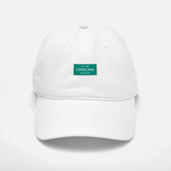 Corsicana, Texas City Limits Baseball Baseball Baseball Cap