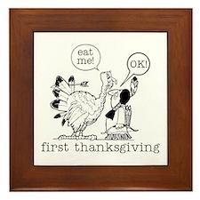 First Thanksgiving Framed Tile