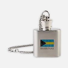 Bahamas Flag Flask Necklace
