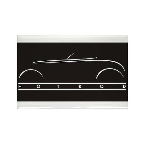 Hot Rod Kitchen Magnet (black)