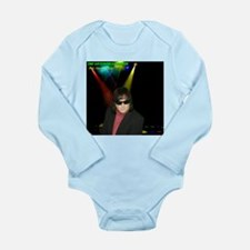 I Partied With PTK Long Sleeve Infant Bodysuit