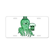 Irish Squid Aluminum License Plate