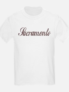 Vintage Sacramento Kids T-Shirt