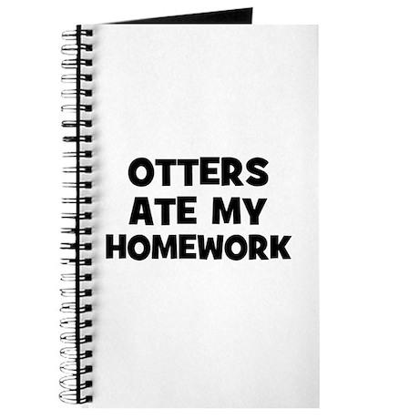Otters Ate My Homework Journal