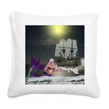 Best Seller Merrow Mermaid Square Canvas Pillow