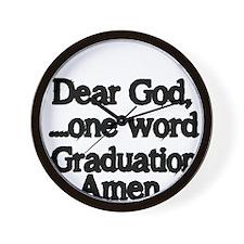 Dear God,One Word Wall Clock