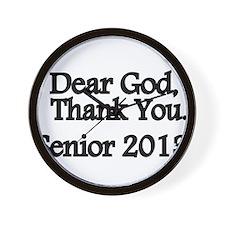 Dear God, Thank you Wall Clock