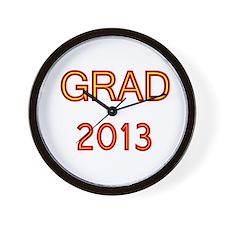 GRAD 2013-marron-gold Wall Clock