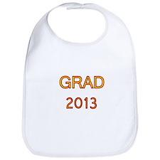 GRAD 2013-marron-gold Bib