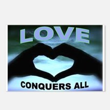 LOVE CONQUERS Postcards (Package of 8)