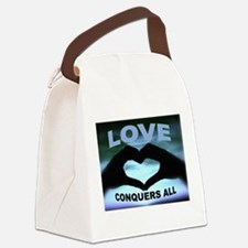 LOVE CONQUERS Canvas Lunch Bag