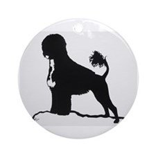 Portuguese Water Dog Sillhouette on rocks Ornament