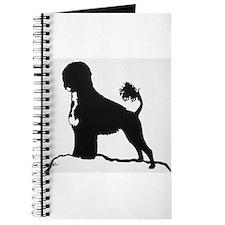 Portuguese Water Dog Sillhouette on rocks Journal