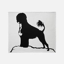 Portuguese Water Dog Sillhouette on rocks Throw B