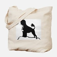 Portuguese Water Dog Sillhouette on rocks Tote Bag