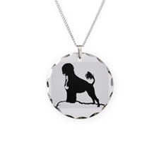 Portuguese Water Dog Sillhouette on rocks Necklace