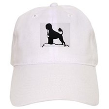 Portuguese Water Dog Sillhouette on rocks Baseball