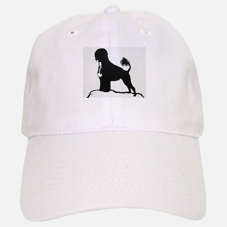 Portuguese Water Dog Sillhouette on rocks Baseball