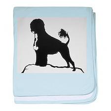 Portuguese Water Dog Sillhouette on rocks baby bla