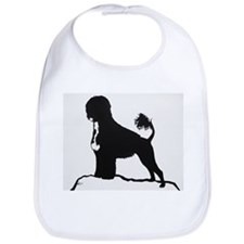 Portuguese Water Dog Sillhouette on rocks Bib