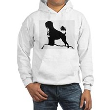 Portuguese Water Dog Sillhouette on rocks Hoodie