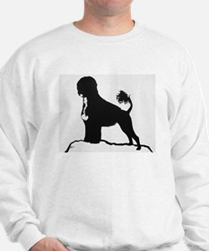 Portuguese Water Dog Sillhouette on rocks Sweatshi