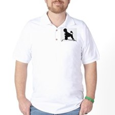 Portuguese Water Dog Sillhouette on rocks T-Shirt
