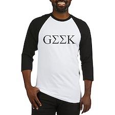 Geek in Greek Letters Baseball Jersey