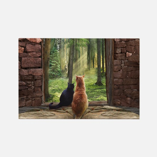 Doorway into Forever Rectangle Magnet