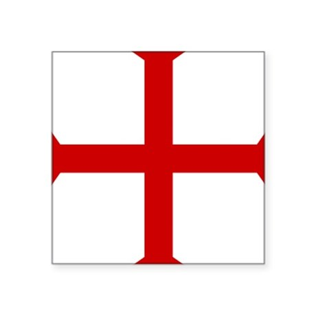 Flag of The Knights Templar Rectangle Sticker