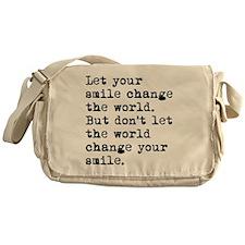 Smile Change The World Messenger Bag