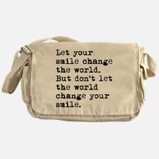 Smile Change The World Messenger Bag