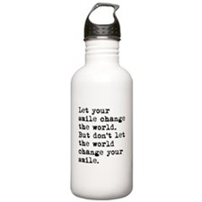 Smile Change The World Water Bottle