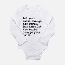 Smile Change The World Body Suit