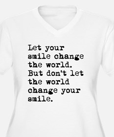 Smile Change The World Plus Size T-Shirt